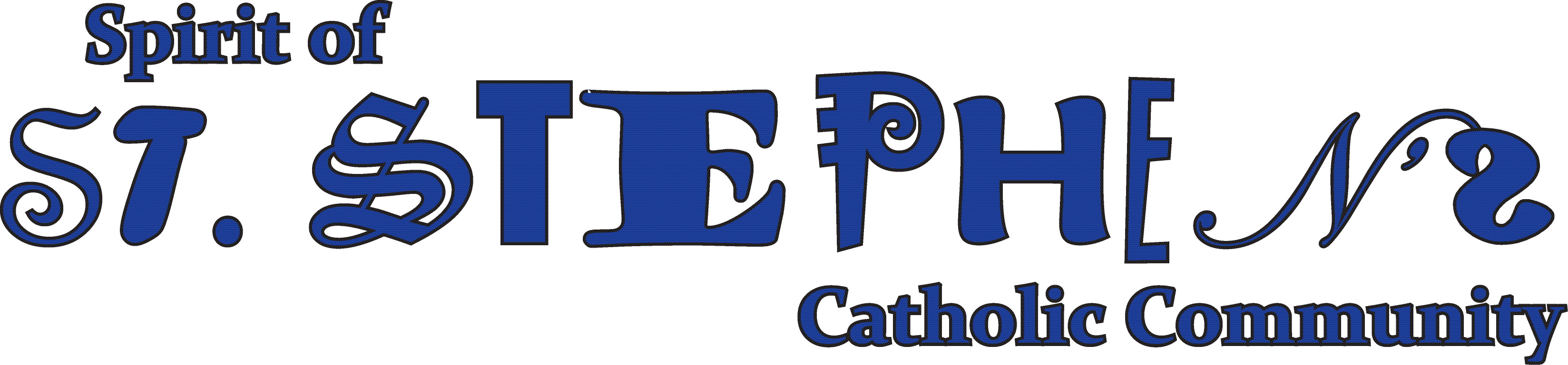 St Stephens logo blue black on white
